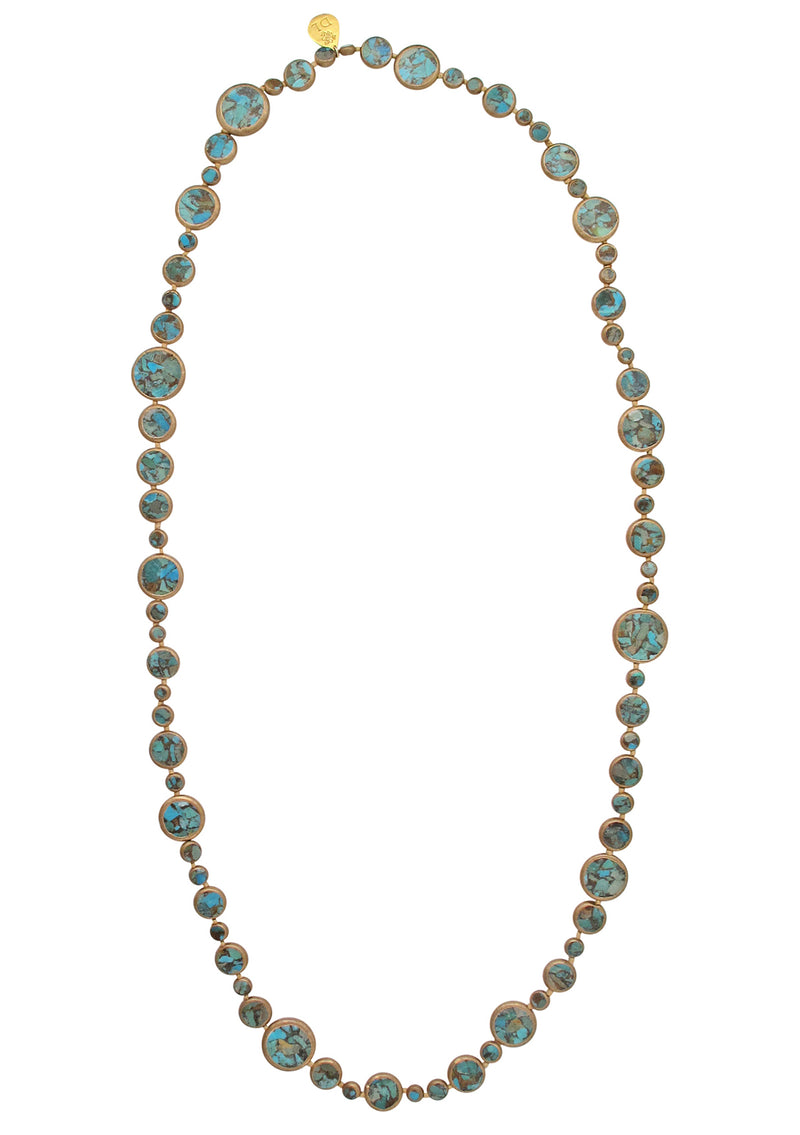 Copper Infused Turquoise Necklace