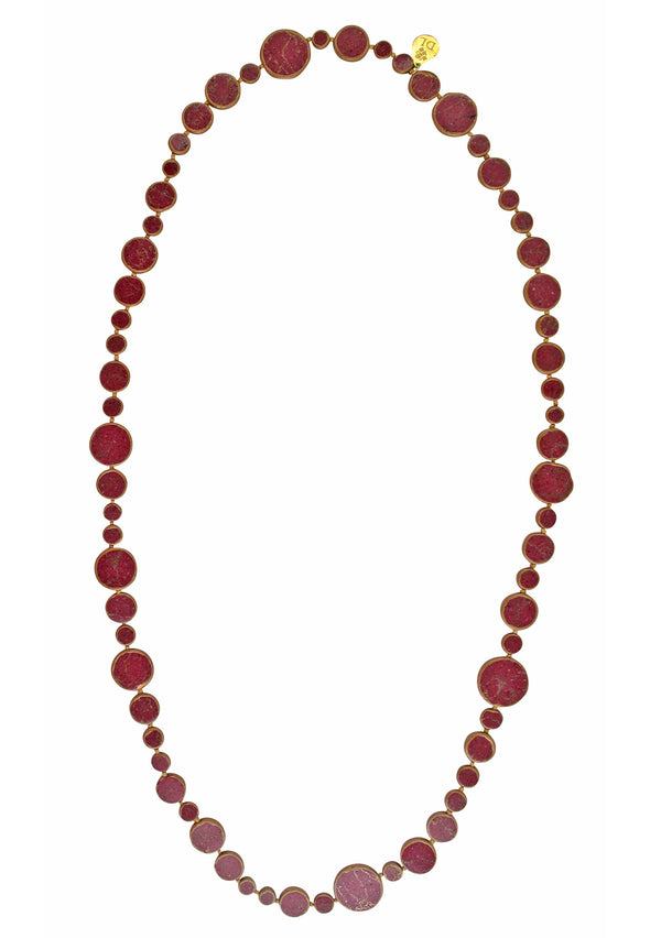 Copper Infused Ruby Howlite Necklace