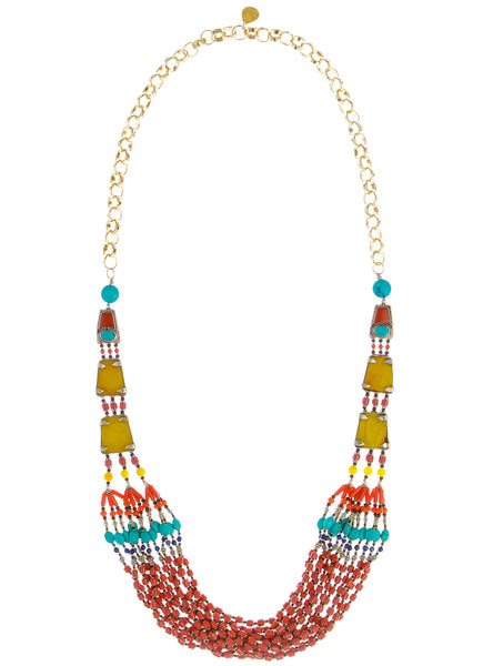 Long Tribal Ethnic Necklace