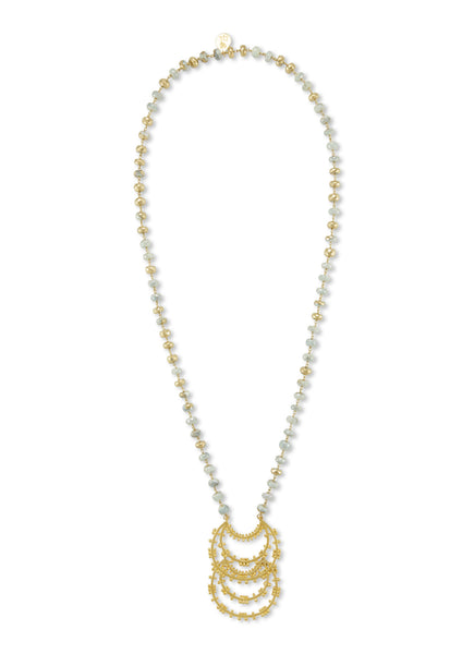 Gold Silverite Pendant Necklace