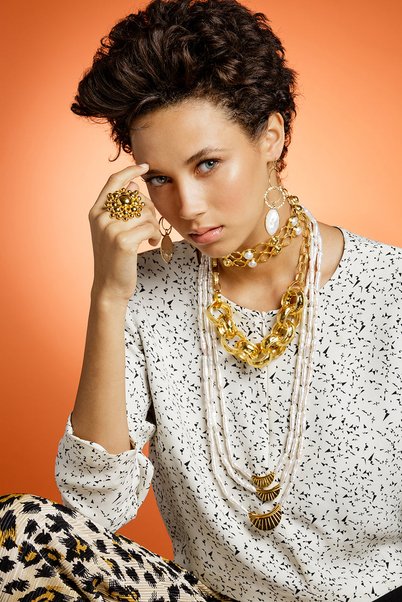Gold Thick Link Chain Necklace