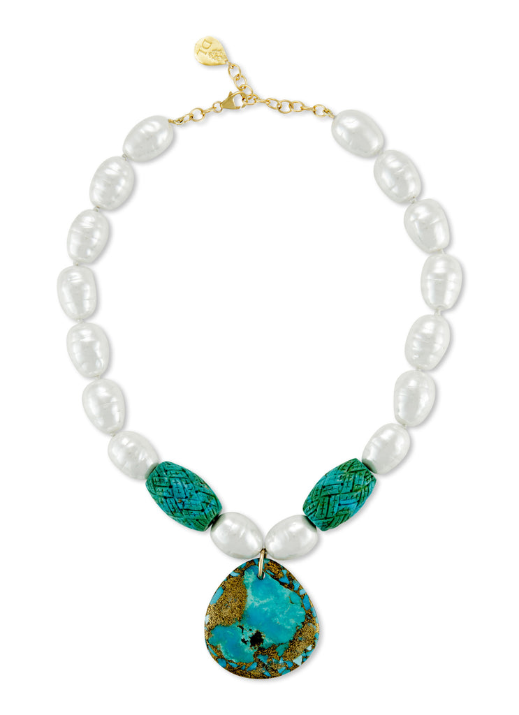 leigh and necklace jewellery products devon pearl turquoise white
