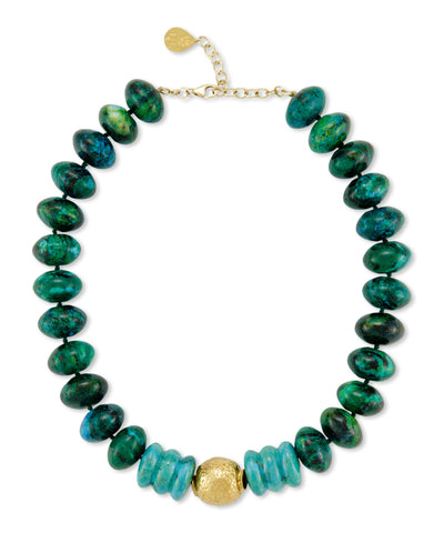 Chrysocolla Turquoise Necklace