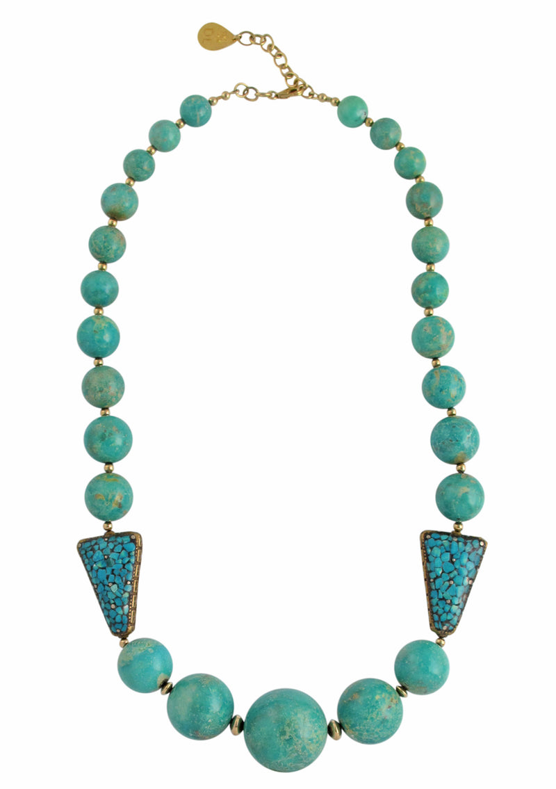 One of a Kind Natural Turquoise Necklace