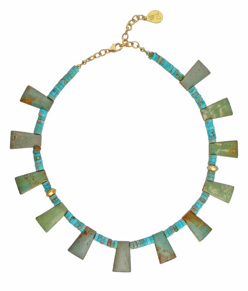 Natural Turquoise Slab Necklace