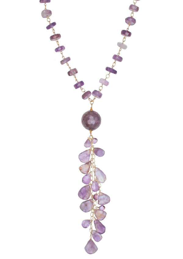Amethyst Cluster Station Necklace