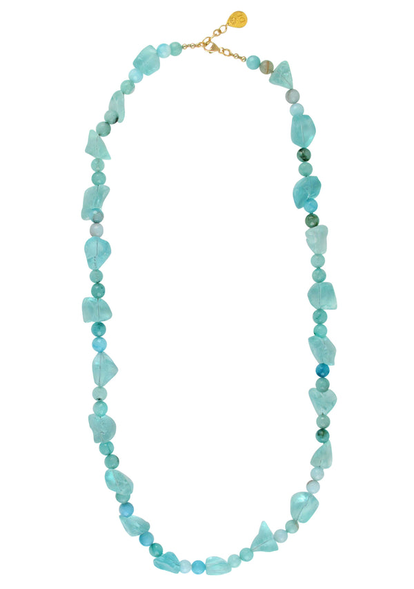 Raw Blue Quartz Amazonite Necklace