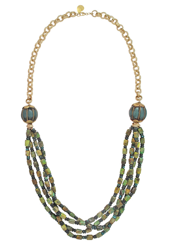 Long Turquoise Ethnic Necklace