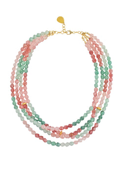 Watermelon Quartz Multi-Strand Necklace