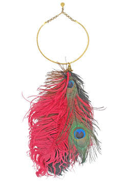 One of a Kind Feather Bib Necklace