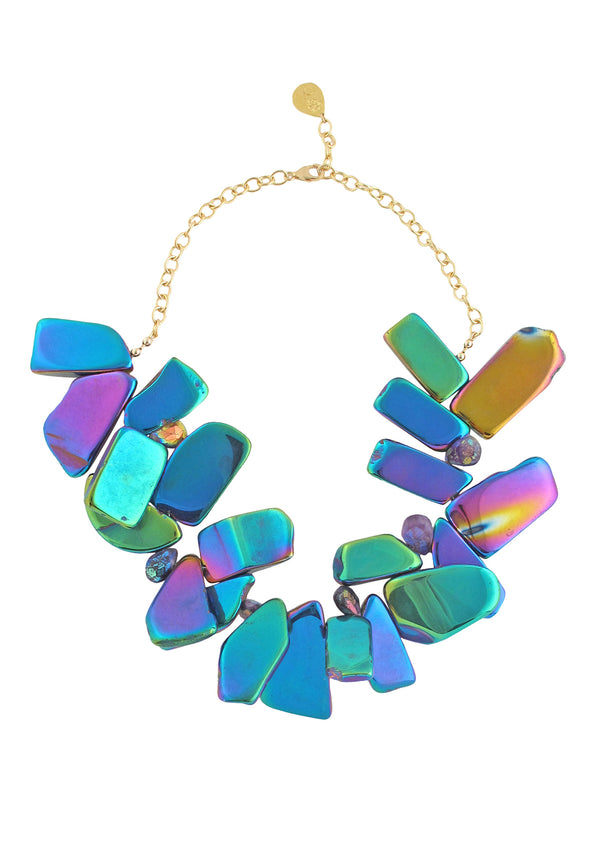 Up and Down Titanium Quartz Necklace