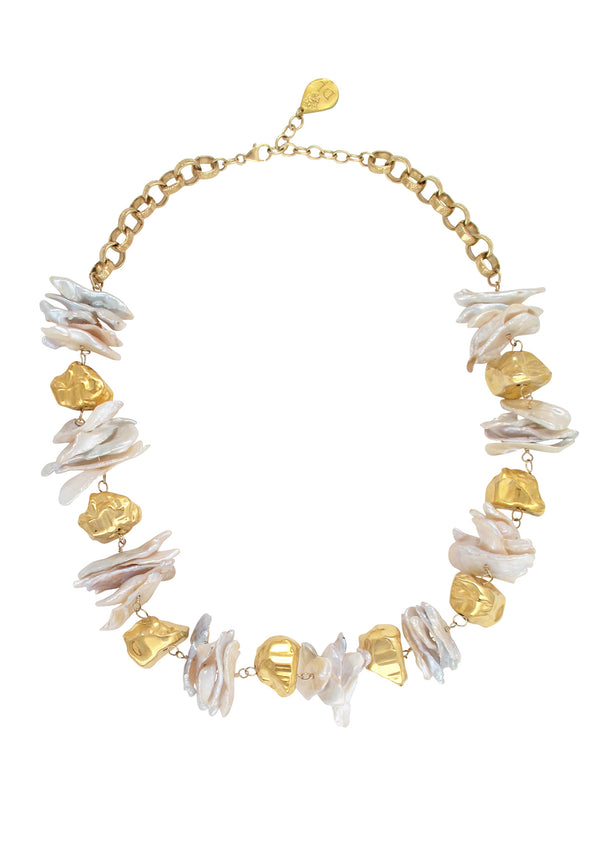Freshwater Pearl Gold Accent Necklace