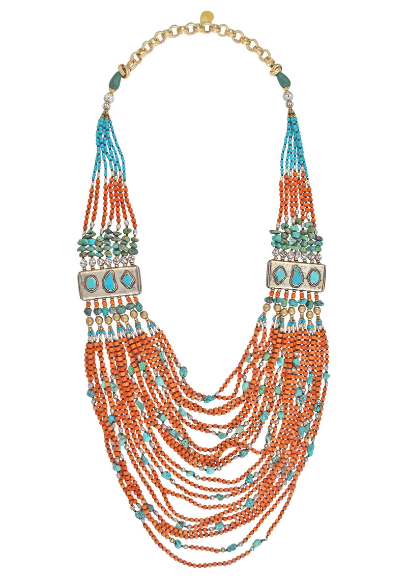 One of a Kind Ethnic Multi Strand Necklace