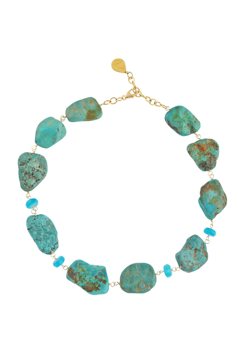 Turquoise Slab Amazonite Necklace
