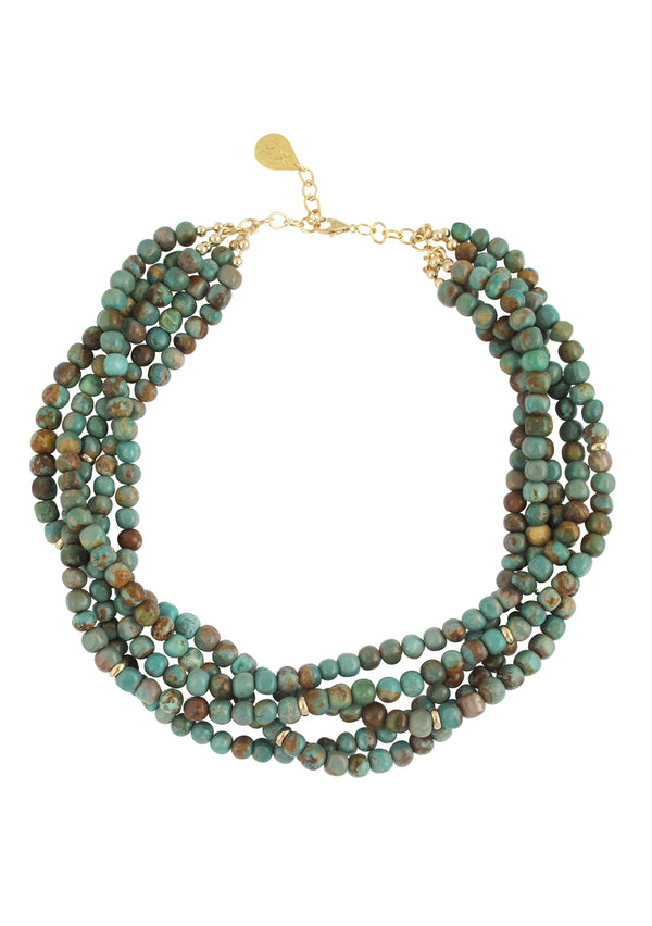 Natural Turquoise Multi Strand Necklace