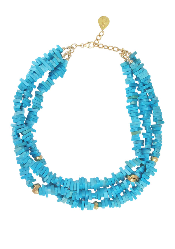 Turquoise Multi Strand Necklace