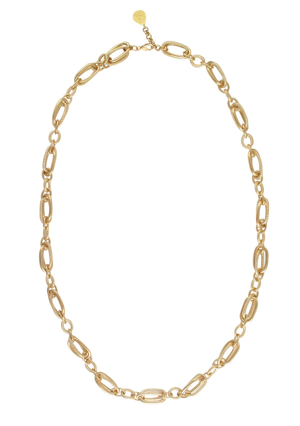 Gold Multi-Link Chain Necklace