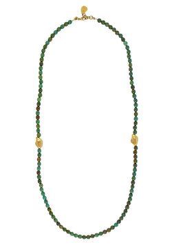 Green Turquoise Gold Accent Necklace