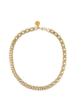 Gold Textured Chain Necklace