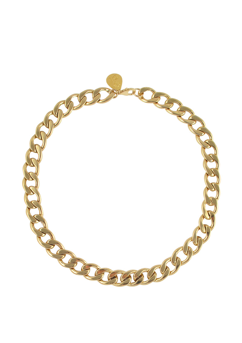 Thick Gold Link Chain Necklace