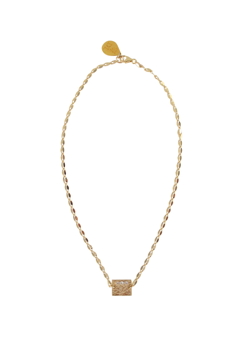 Dainty Chain Diamond Illusion Charm Necklace