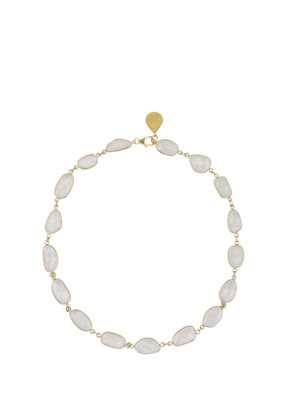 Moonstone Bezel Necklace