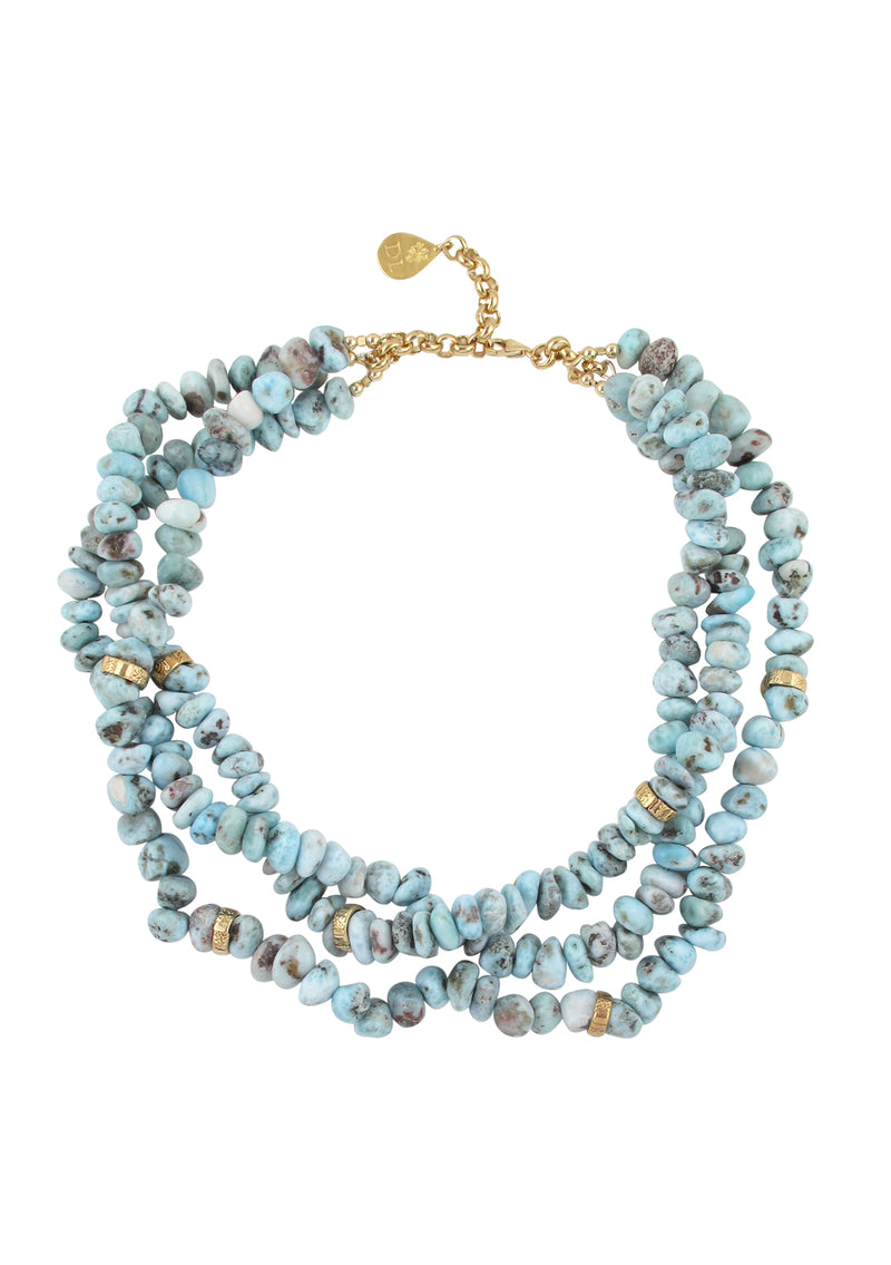 Larimar Multi Strand Necklace