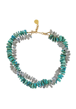 Labradorite and Chrysocolla Necklace