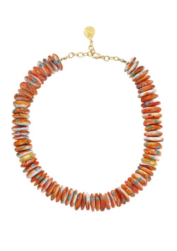 Oyster Shell Gold Accent Necklace