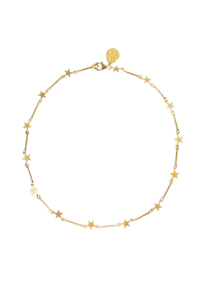 Gold Star Chain Necklace