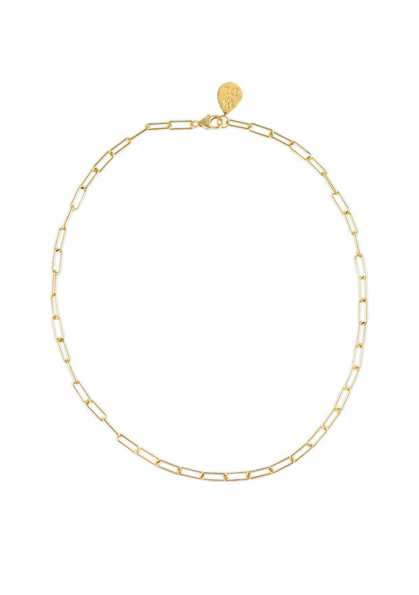 Small Gold Link Chain Necklace