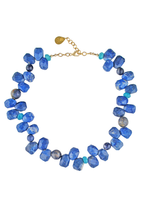 Up and Down Lapis Amazonite Necklace