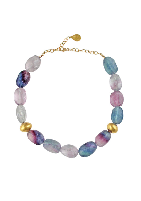 Multi-Strand Iridescent Multi-Strand Necklace