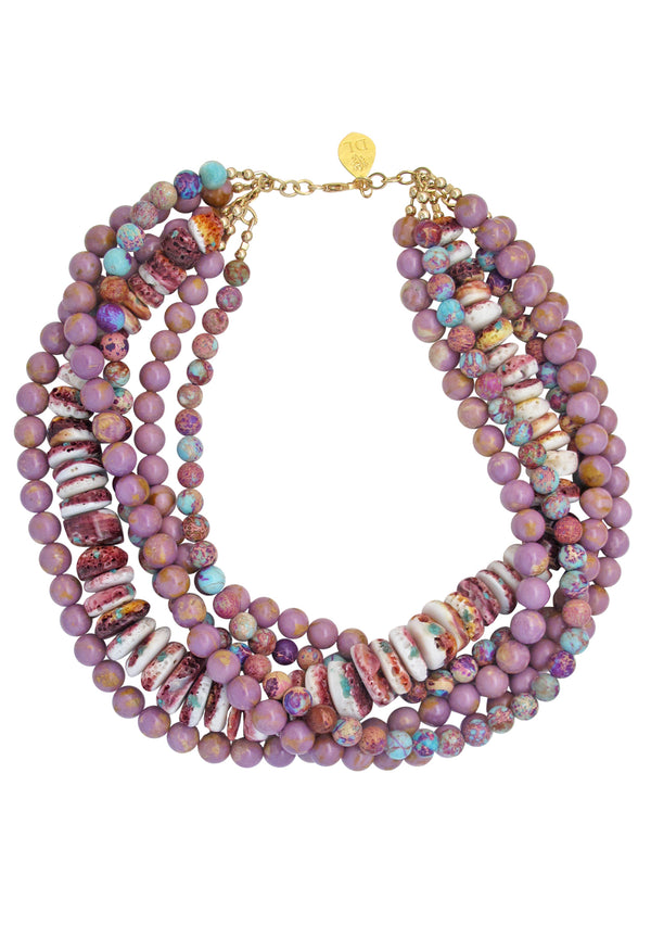 Multi Strand Multi Stone Necklace