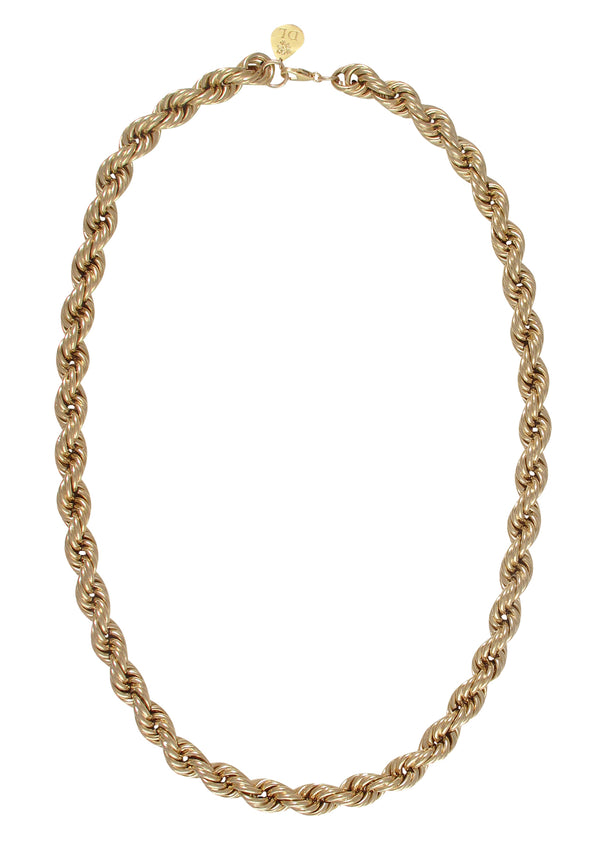 Thick Twisted Gold Chain Necklace
