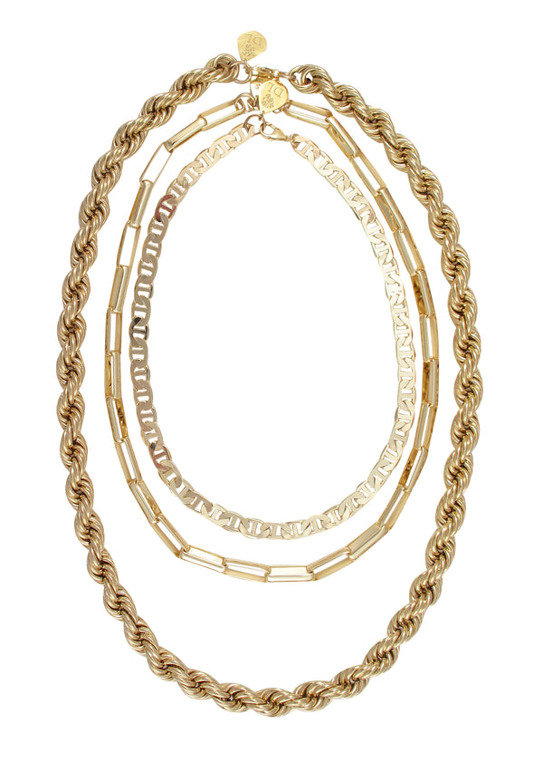 Thick Link Golden Chain Necklace