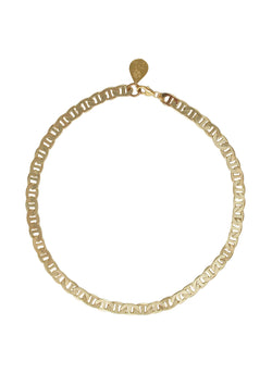 Flat Golden Chain Necklace