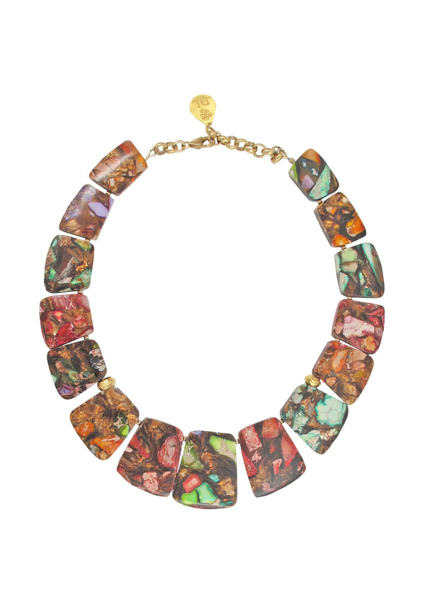 Rainbow Bronzite Collar Necklace
