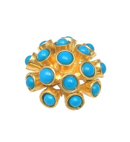 Sleeping Beauty Turquoise Gold Statement Ring