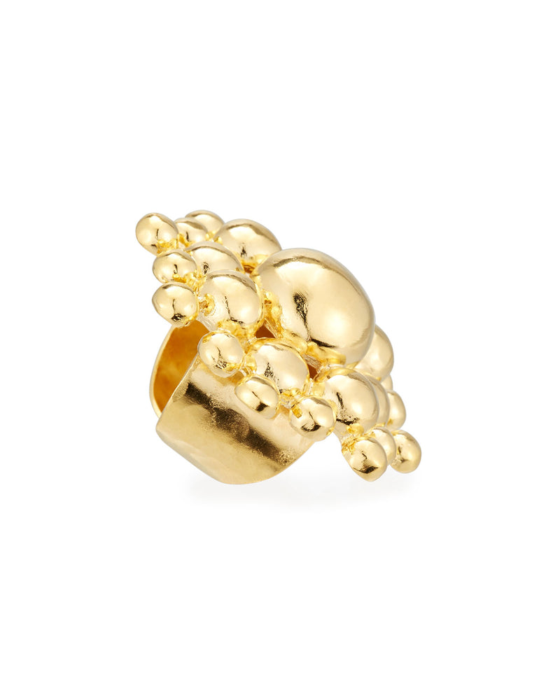 Gold Sunburst Statement Ring