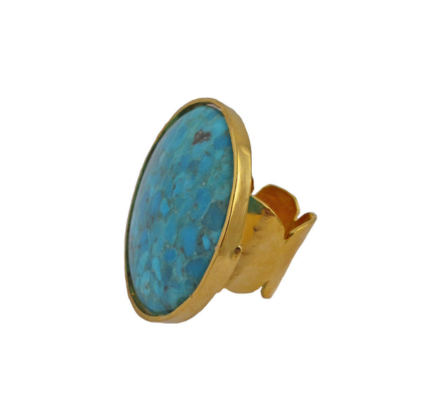 Large Turquoise Statement Ring