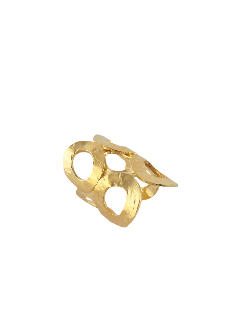 Gold Multi Circle Ring