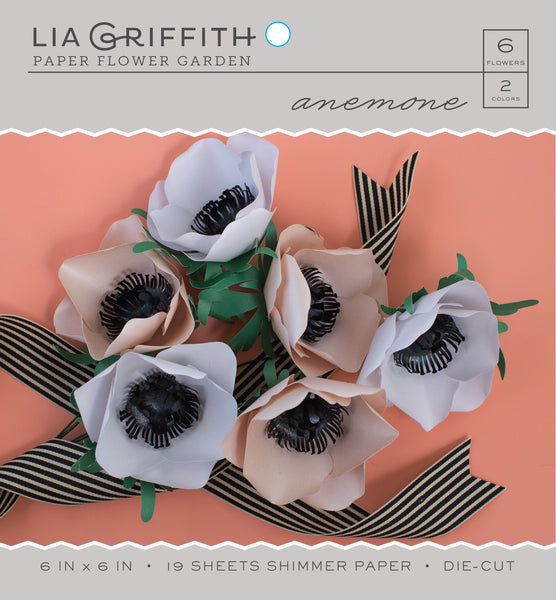 Anemone Frosted Paper Flower Kit