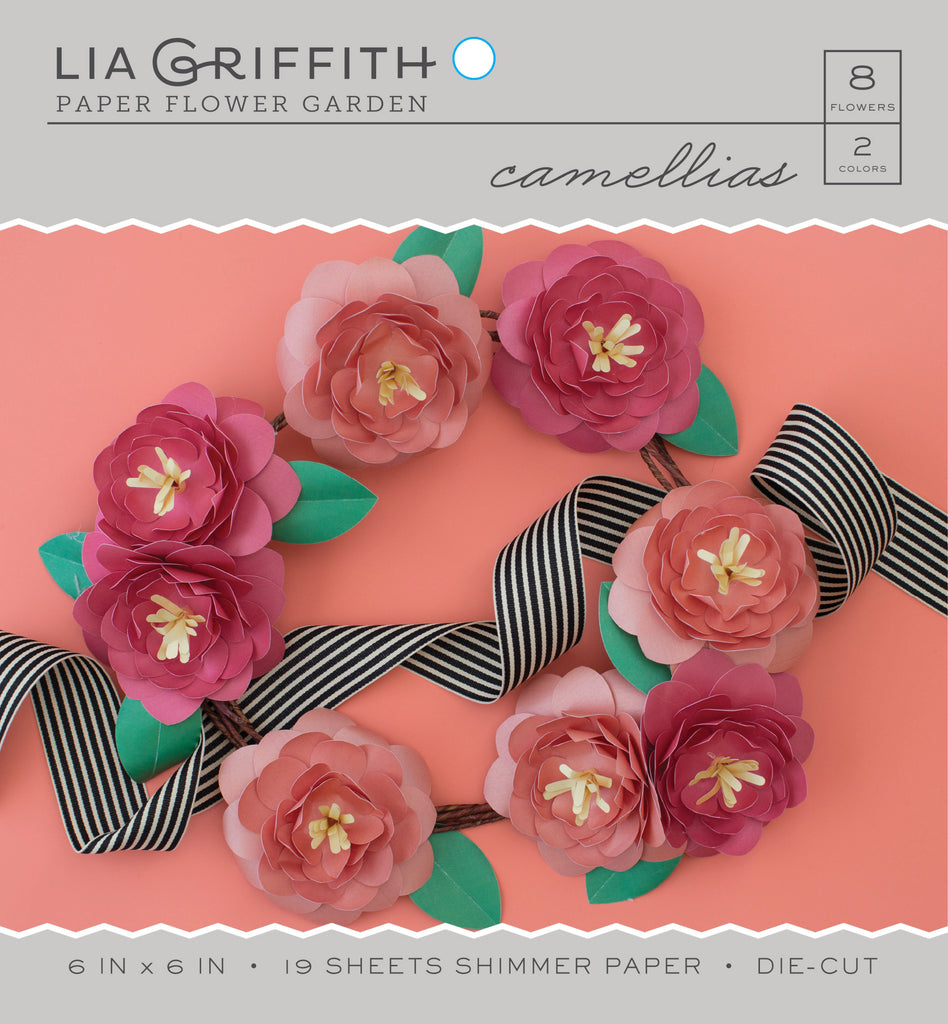 Camellia frosted paper flower kits lia griffith mightylinksfo