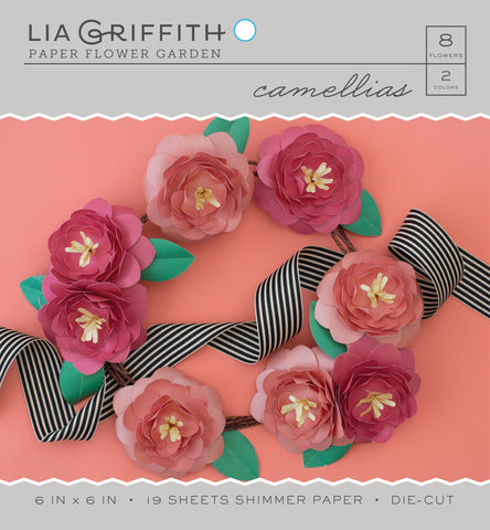 Camellia Frosted Paper Flower Kits