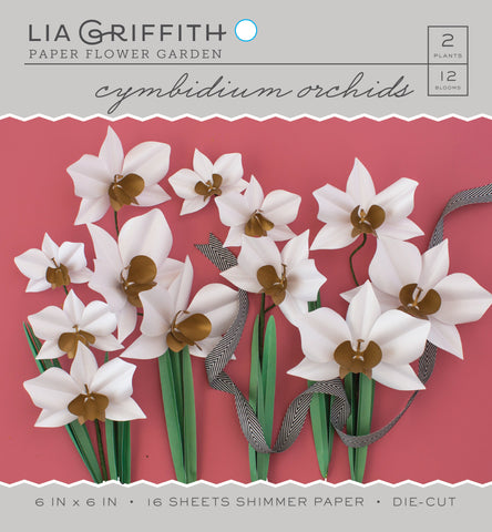Cymbidium Orchid Frosted Paper Flower Kit