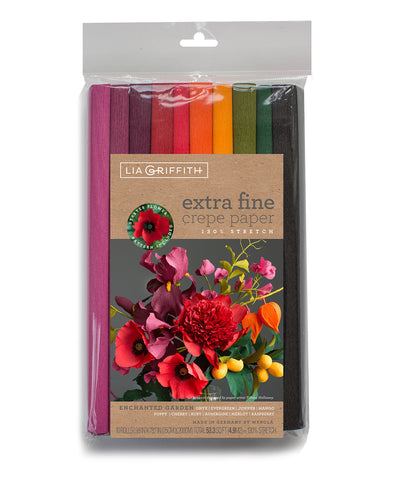 10-Pack - Extra Fine Crepe Paper Enchanted Garden