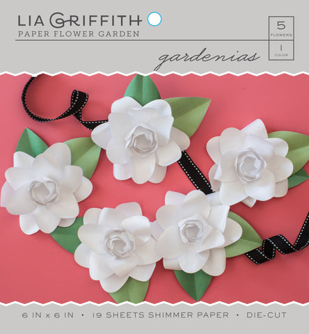 Gardenia Frosted Paper Flower Kit