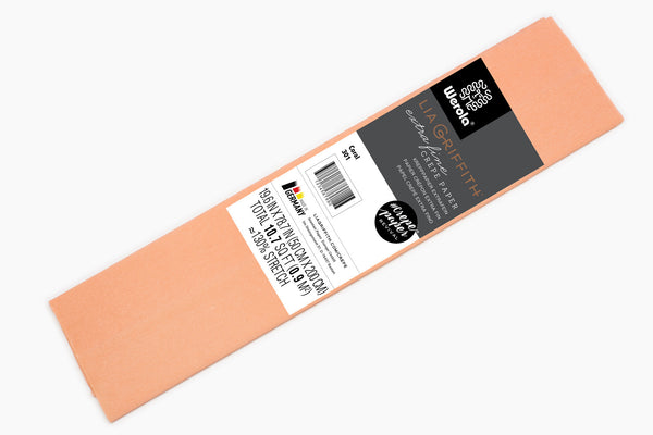 Single Pack - Extra Fine Crepe Paper – Coral