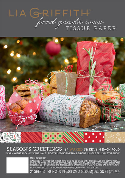 Holiday Food Wax Paper